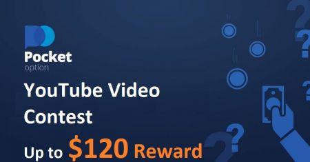 Concorso video YouTube Pocket Option - Ricompensa fino a $ 120